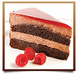 Double Decker Chocolate Raspberry Mousse Cake