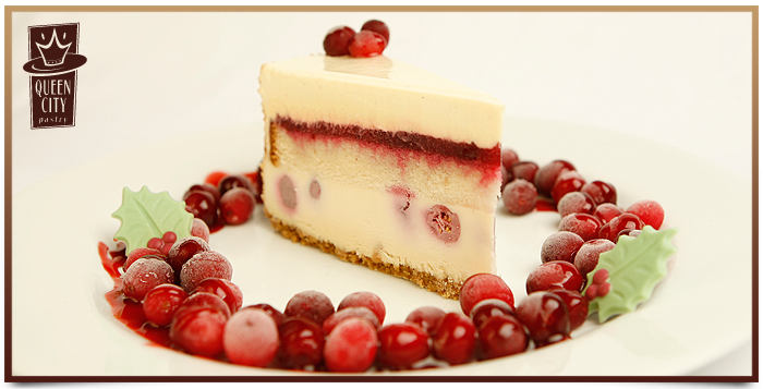 Double Decker White Chocolate Cranberry Cake