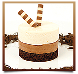 Chocolate Vanilla Bean Mousse Cake