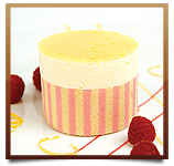 Lemon Raspberry Mousse Cake