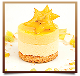 Passion Fruit Mango Coconut Mousse Cake